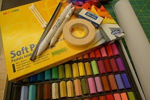 粉彩畫工具